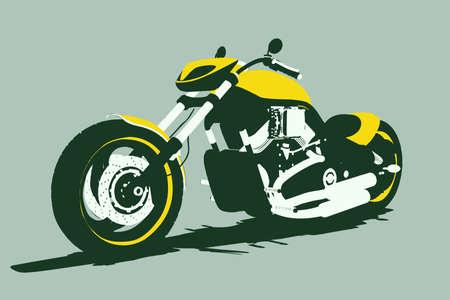 throttle: isolated vector bike Stock Photo