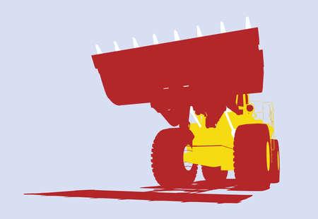 isolated vector heavy utility vehicle photo