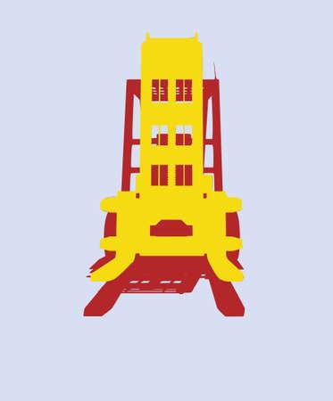vector fork isolated heavy machine photo