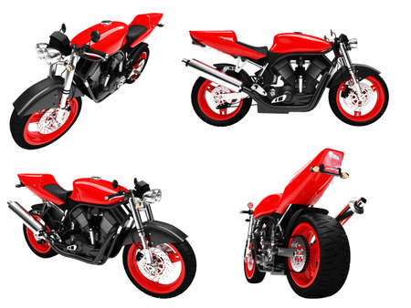 fullthrottle: Isolated collection of bikes over white background