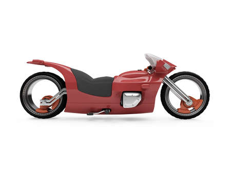 fullthrottle: Isolated red bike side view over white background