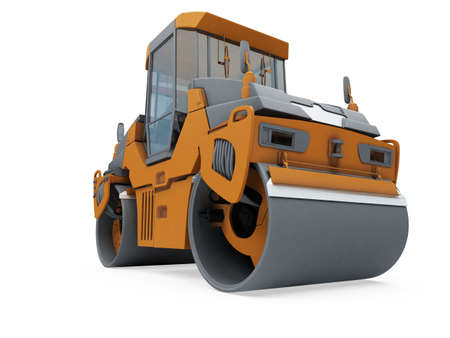 Isolated construction truck over white background photo