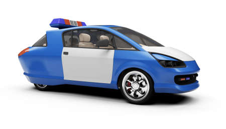 Isolated police car over white background Stock Photo - 5650583