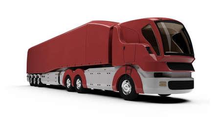 Isolated cargo truck over white background Reklamní fotografie