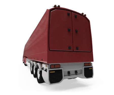 semitrailer: Isolated cargo truck over white background Stock Photo