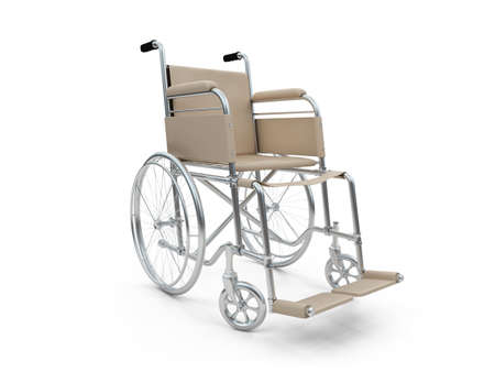 Isolated wheelchair over white background Stock Photo - 5650672