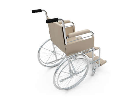 medicine wheel: Isolated wheelchair over white background
