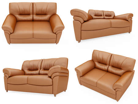 Isolated collage of sofa over white background Stock Photo - 5923953