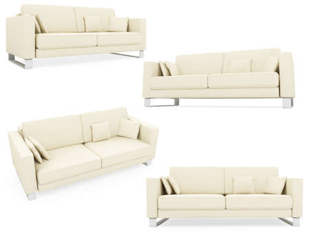 Isolated collage of sofa over white background Stock Photo - 5923850