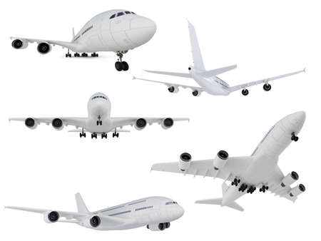 Isolated collection of airplane