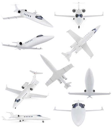 Isolated collection of commercial airplane Stock Photo - 6077753