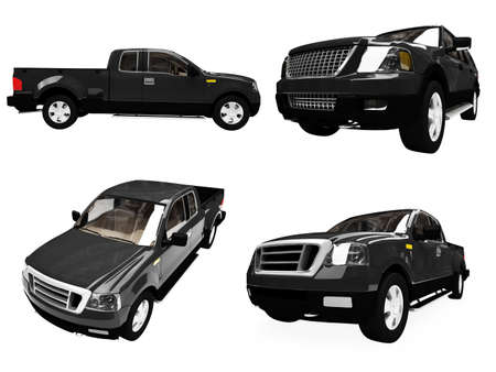 ford: Isolated collection of black car Stock Photo