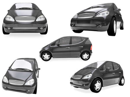 Isolated collection of small car photo