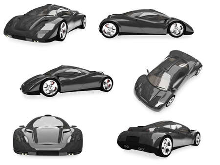 Isolated collection of sport car photo