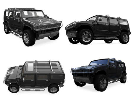 hummer: Isolated collection of truck Stock Photo