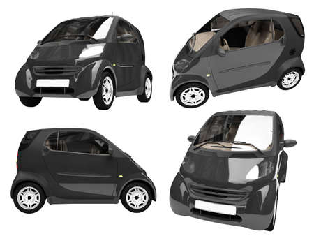 Isolated collection of small car Stock Photo - 6077757