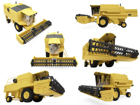 Isolated collection of construction vehicle photo