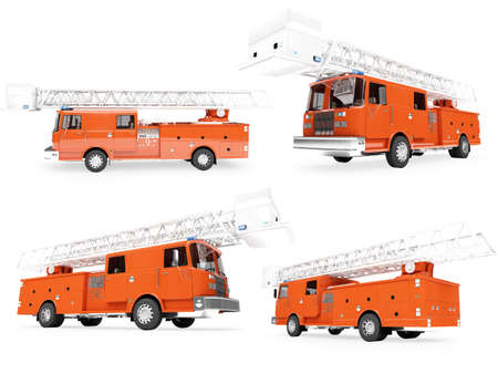 Isolated collection of firetruck photo