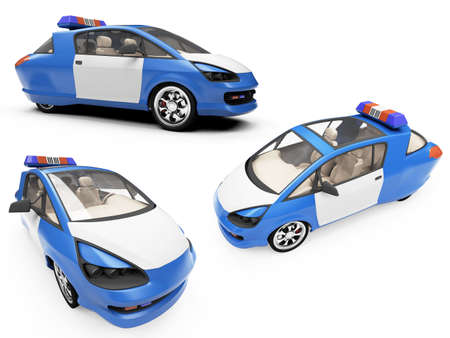 Isolated collection of concept police car Stock Photo - 6077692