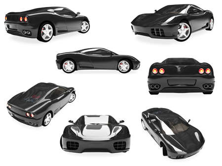 Isolated collection of supreme car Stock Photo
