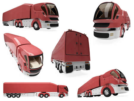 semitrailer: Isolated collection of concept truck Stock Photo