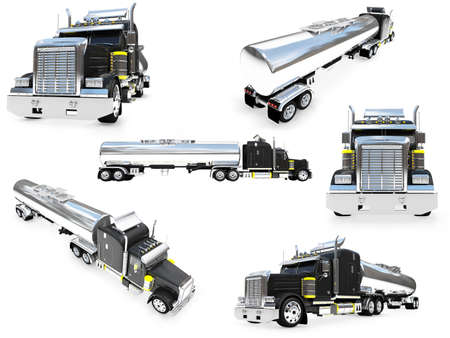 Isolated collection of big truck