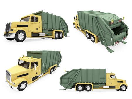 Isolated collection of dump truck photo