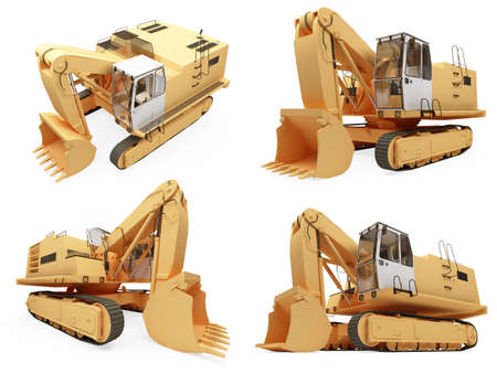earthmoving: Isolated collection of construction truck