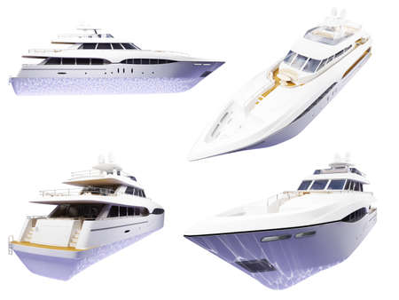 yacht isolated: Isolated collection of yacht