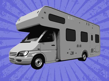 motorhome: vector travel truck