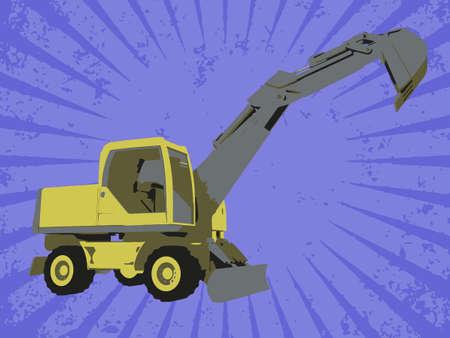 Vector construction truck Vector