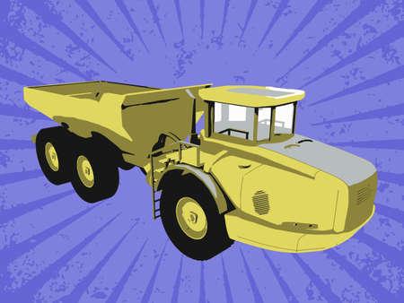 Vector construction truck Stock Vector - 6454189