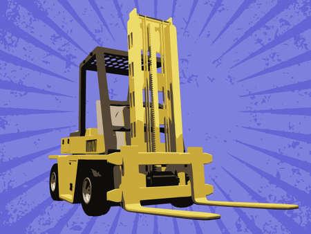 fork lifts trucks: Vector fork truck
