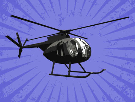 aluminum airplane: Vector helicopter