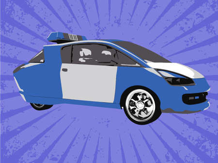 Vector police car Vector