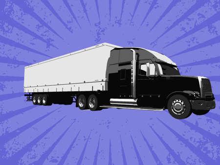 Vector truck Vector