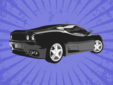 aerodynamics: Vector supercar Illustration