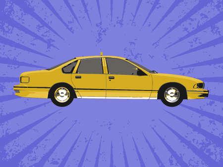 Vector taxi Illustration