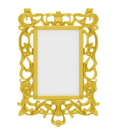 Image de golden décoratif isolé sur fond blanc
