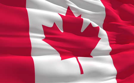 fluttering: Fluttering flag of Canada on the wind Stock Photo