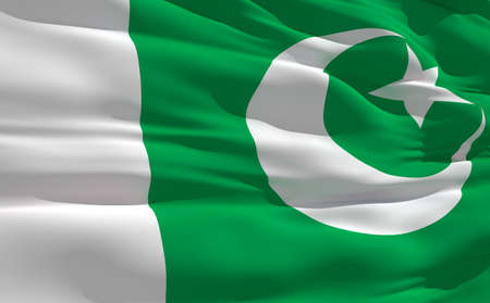 fluttering: Fluttering flag of Pakistan on the wind Stock Photo