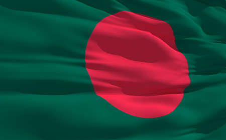 bangladesh: Fluttering flag of Bangladesh on the wind
