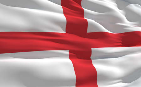 fluttering: Fluttering flag of England on the wind
