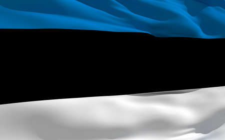 fluttering: Fluttering flag of Estonia on the wind Stock Photo