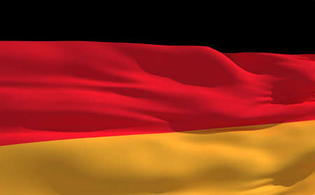 fluttering: Fluttering flag of Germany on the wind Stock Photo