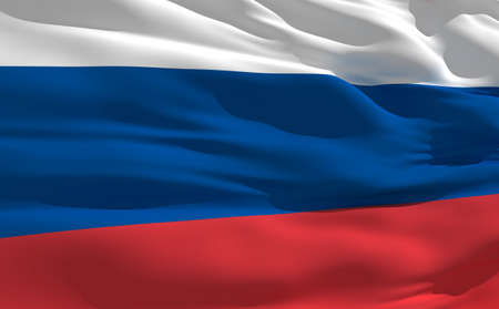 fluttering: Fluttering flag of Russia on the wind