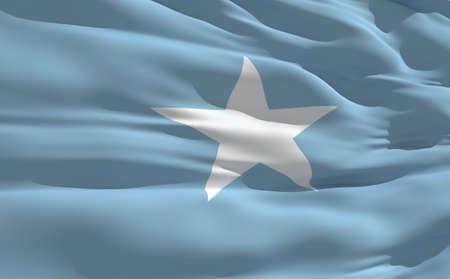 fluttering: Fluttering flag of Somalia on the wind