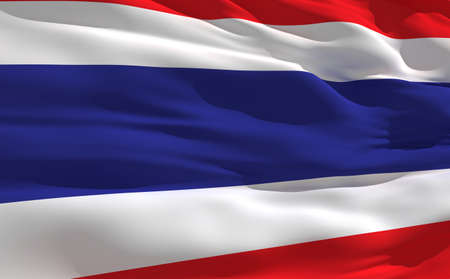 fluttering: Fluttering flag of Thailande on the wind Stock Photo