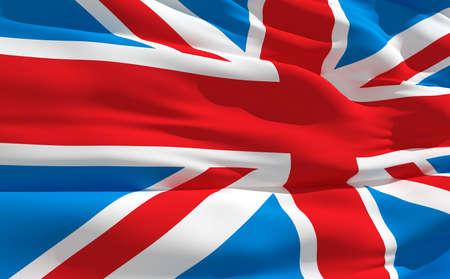 fluttering: Fluttering flag of United Kingdom on the wind