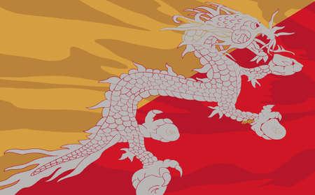 bhutan: vlag van Bhutan